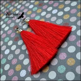 Серьги-кисти Madam Red