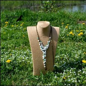 Колье-галстук Первоцветы