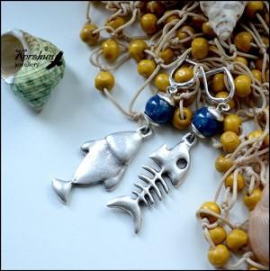 Серьги Рыбачка