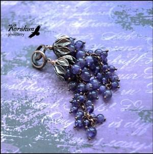 Серьги Винная гроздь