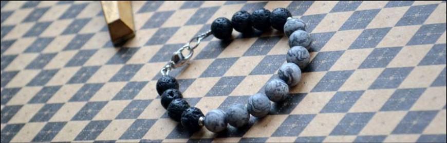 Авторские мужские браслеты из натуральных камней