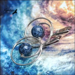 Серьги Голубая планета