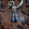 Серьги Грозовое небо, изготовлен из: Дюмортьерит, Родий, Серебро 925 пр,