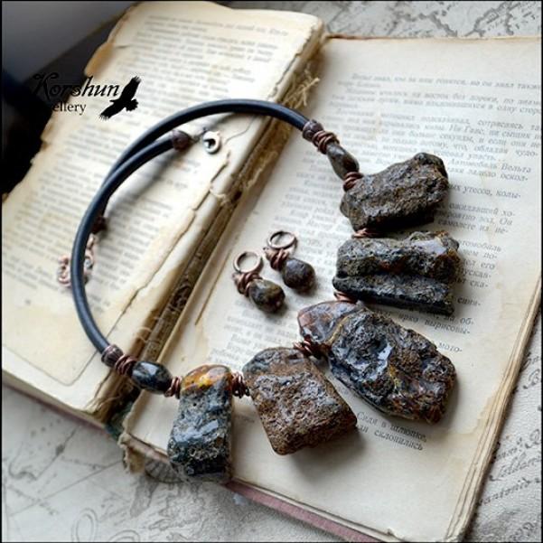 Комплект Легенды древности: Янтарь, Медь, Кожа