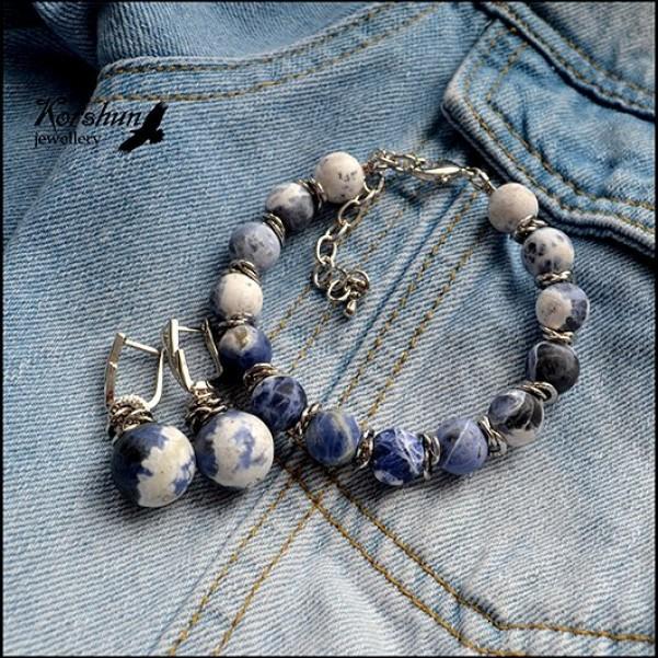 Комплект Любимые джинсы: Содалит, Родий,