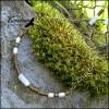 Колье-гривна Моравы: Кварц, Латунь, Ювелирный сплав, Экзотические семена