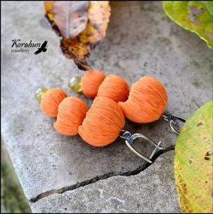 Серьги Осенние бутоны