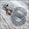 Серьги Roses: Солнечный камень, Медь,