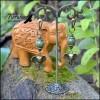 Серьги Слоновьими тропами: Нефрит, Латунь,
