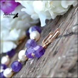 Серьги Тайные желания purple