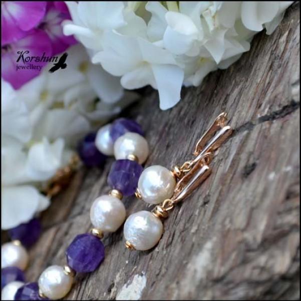 Серьги Тайные желания pearl: Жемчуг, Родий,
