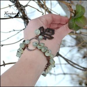 Браслет Зеленый виноград